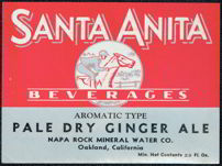 #ZLS087 - Rare Santa Anita Race Track Ginger Ale Label
