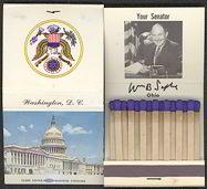 #PL255 - William B. Saxbe Full Pack of Matches