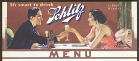#SP039 - Schlitz Menu Sheet with Phil Lyford Artwork