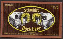 #ZLBE050 - Schmidt's Bock Beer Label with Goat Heads Pictured
