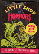 #ZZA057 - Wax Pack of 1986 Little Shop of Horror Cards