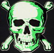 #HH085 - Large Diecut Halloween Skull and Crossbones