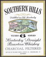 #ZLW096 - Southern Hills Kentucky Whiskey Label