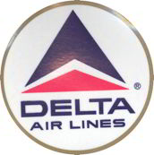 "#CA070 - 4"" Delta Airline Decal"