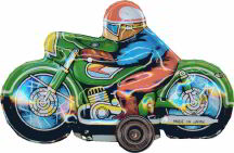 #TY143 - Lithographed Japanese 4 Wheeled Friction Motorcycle