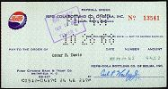 #ZZSOP013 - Group of 4 1960s Pepsi Payroll Checks