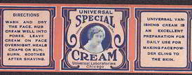 #ZBOT103 - Universal Special Cream Label that went on a Milk Glass Jar