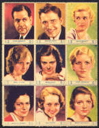 #CH310  - Full Pack of 1932 Screen Star Stamps - Series with Janet Gaynor
