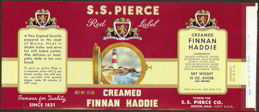 #ZLCA089 - S. S. Pierce Creamed FInan Haddie Can Label