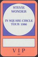 #MUSIC056  - 1986 Stevie Wonder OTTO Backstage Pass from the In The Square Circle Tour