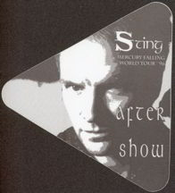 #MUSIC085  - Triangular 1996 Sting Mercury Falling World Tour OTTO Backstage Pass