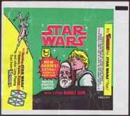 #ZZA082 - 1978 Star Wars Trading Card Wrapper - Green and Yellow