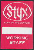 #MUSIC054  - 1990 Styx OTTO Backstage Pass from the Edge of the Century Tour
