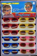 #TY221 - Nicely Illustrated Display Card with a Dozen Kid's Sunglasses