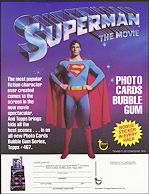 #ZZA019 - 1978 Topps Superman 1 Sell Sheet