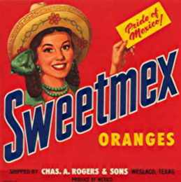 #ZLC004 - Group of 3 Sweetmex Orange Crate Labels