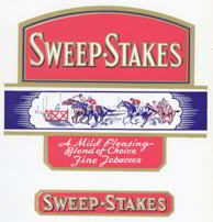 #ZLSC058 - Sweep-Stakes Cigar Label