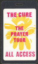 "#MUSIC491 - 1989 The Cure Laminated Backstage Pass from the ""The Prayer Tour"""