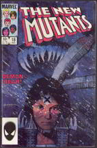#COMIC025  - #18 Issue of The New Mutants Comic