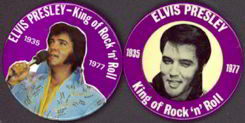 #MUSIC018  - Pair of Elvis Memorial Pinbacks