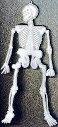 #HH079 - Large Plastic Halloween Skeleton with Eye for Hanging