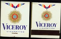 #TM038 - Group of 2 Viceroy Cigarettes Front Cover Striker Match Packs