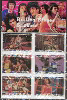 #MUSIC003  - Set of 6 Carded Rolling Stones Stickers from 1983