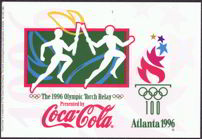 #CC201 - Atlanta 1996 Olympic Torch Relay Coca Cola Postcard
