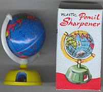 #TY076 - Group of 4 Boxed Tin Globe Pencil Sharpeners