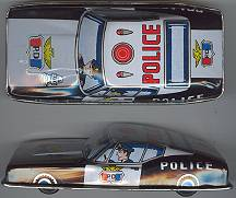 #TY103 - Tin Toy Friction Ford Mustang Police Car