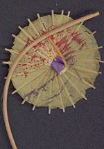 #MS146 - Three Very Old pre-war Japan Parasol Trinkets