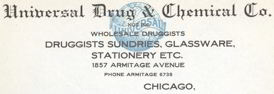 #ZZZ014 - Turn of the Century Universal Drug Letterhead