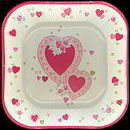 #HH104 - Luncheon Size Valentines Day Paper Plate