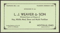 #ZZZ030 - Weaver Wholesale Buyer Ink Blotter