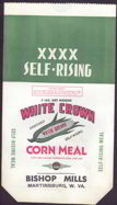 #CS185 - White Crown Corn Meal Bag