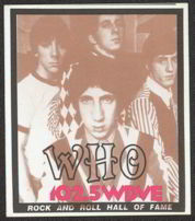 #MUSIC138  - 1990 Commemorative Pass from The Who induction into Hall of Fame