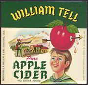#ZBOT100 - William Tell Pure Apple Cider Bottle Label