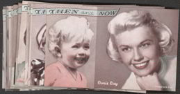 #ZZA111 Complete 16 Card Exhibit Supply Then and Now Female Movie Star Cards