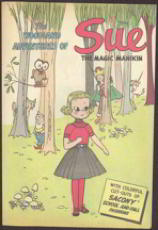 #COMIC023  - 1957 Sacony Sue the Magic Manikin Comic - Doll Cutouts