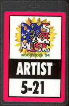 #MUSIC450 - 1994 Woodstock Festival Laminate Backstage Artist Pass