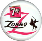 #CH221 - Licensed 1957 7up Zorro Button