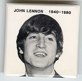 ##MUSICBG0034 - John Lennon Memorial Pinback from 1980