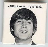 ##MUSICBG0034 - John Lennon Memorial Pinback from 1980