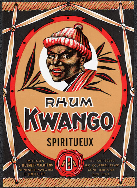 ZLSH600 - Group of 100 Kwango Rum Labels