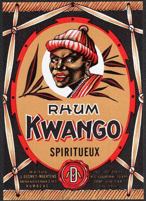#ZLW010 - Kwango Rum Label
