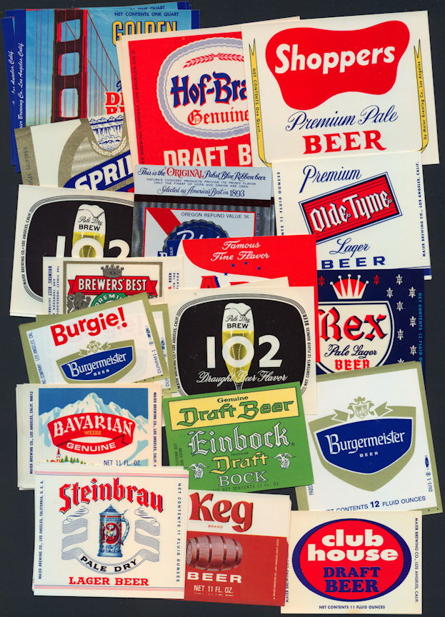#ZLBE111 - 100 Assorted Beer Bottle Labels