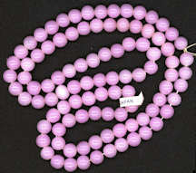 #BEADS0605 - Strand of 100 Translucent Pink Glass Made in Japan Beads