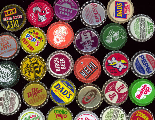 #BC057 -  Group of 110 All Different Soda Caps