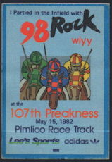 #BA719 - May 15, 1982 107th Preakness Radio Pass - As low as $2.50 Each