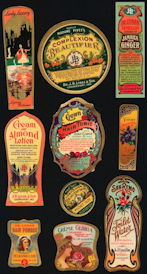 #ZBOT405 - Group of 10 different Lynas Boudoir Product Labels